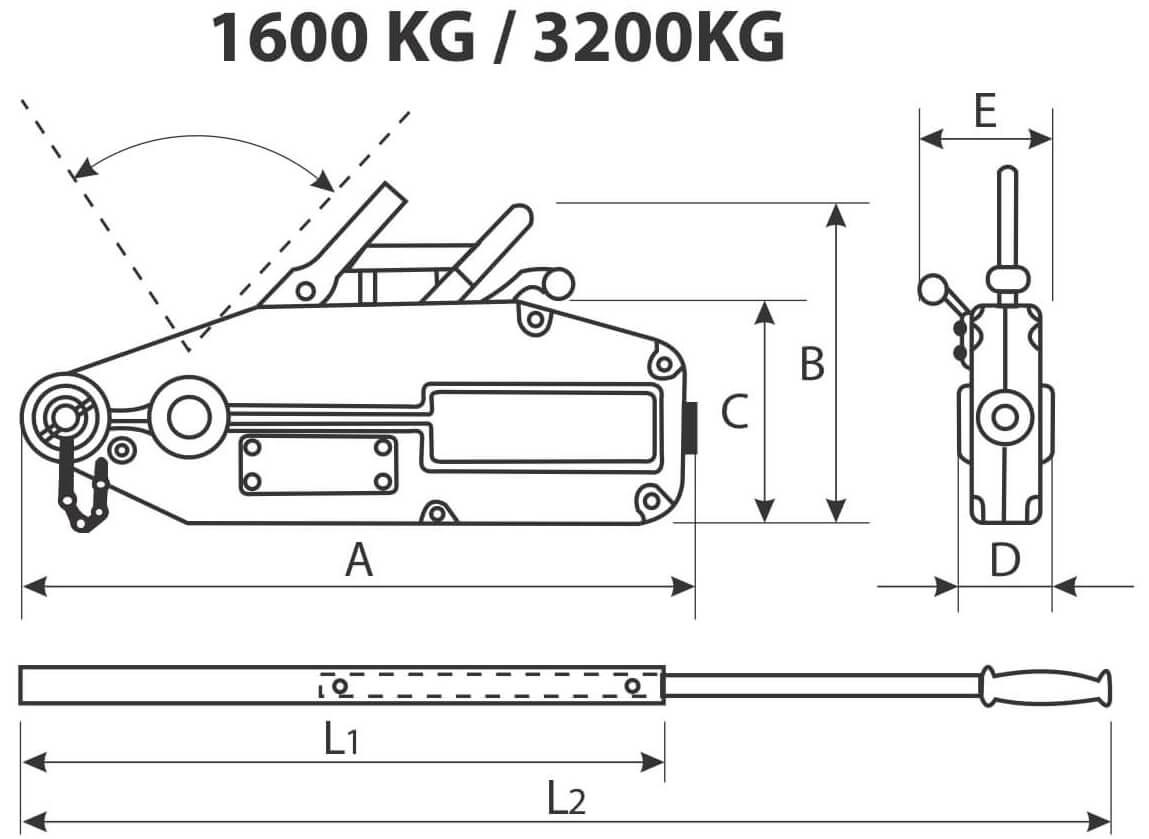 desen tehnic tifor 1600 kg