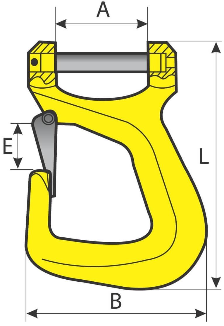 desen tehnic carlig pentru chingi textile